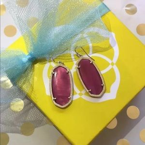 Kendra Scott Burgundy Illusion Elle Earrings